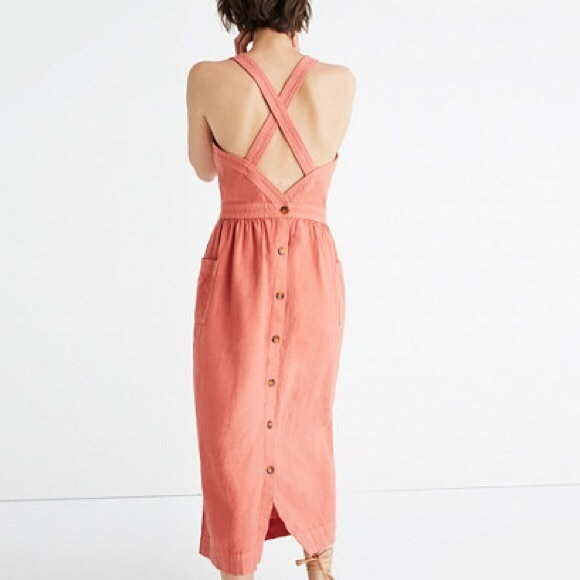 Madewell Dresses & Skirts - Madewell Garment-Dyed Apron Midi Dress